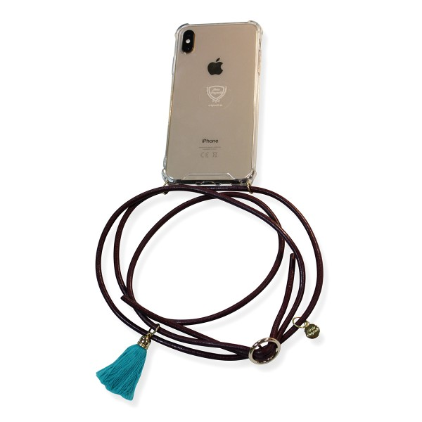 "DIY- Design your mobile phone chain: ""suitable for Samsung models"" including leather-ribbon and charm"
