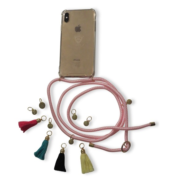 "DIY- Design your mobile phone chain: ""suitable for Iphone models"" including classic-ribbon and charm"