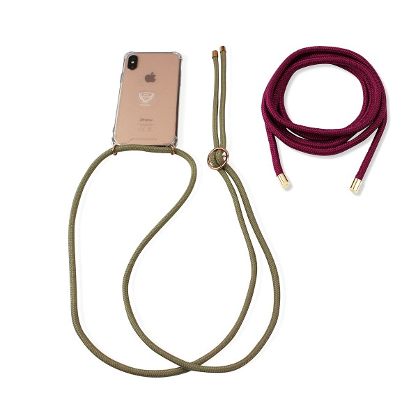 "SET Mobile Phone Chain and Removable Strap ""Suitable for Samsung Galaxy J5"" Case Necklace"